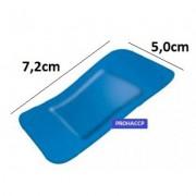 Sinised plaastrid tekstiil 7.2x5.0cm, 50tk kmpl